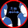 Geste barriere 1m 1